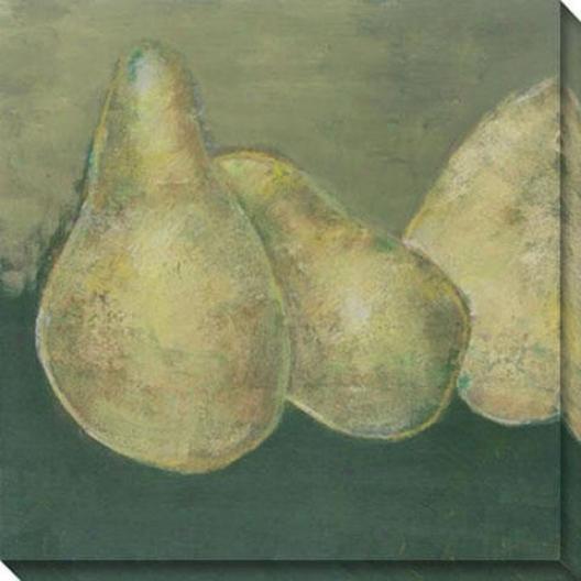 """gorham Pear Canvas Wall Art - 40""""hx40""""w, Green"""