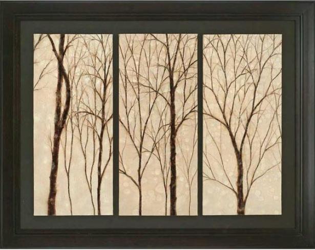 """""""graceful Trees Frameed Wall Art - 44""""""""h X 56""""""""w, Beige"""""""
