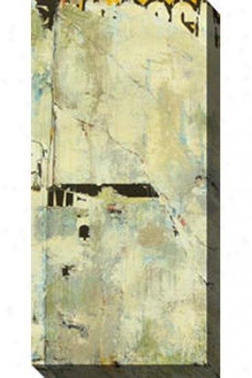 Grafitti Iii Canvas Wall Art - Iii, Gray