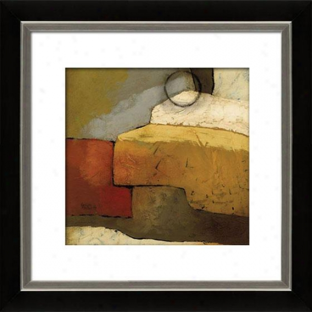 Grand Gesture Ii Framed Wall Art - Ii, Mtd Black/slvr