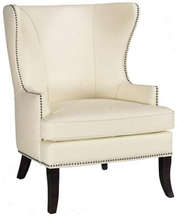 """grant Wing Back Chair - 41.5""""h, Ivory"""