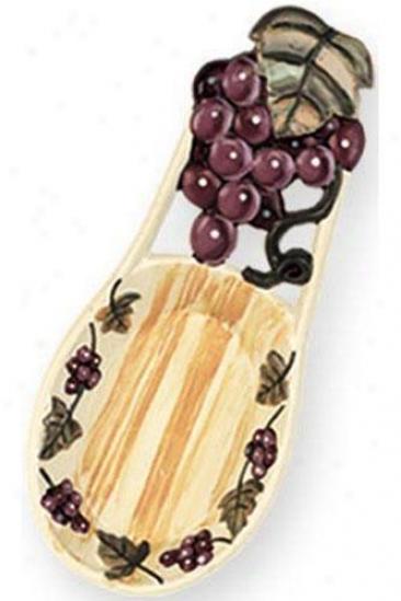 """grapevine Spoon Rest - 8""""lx3.5""""w, Purple"""