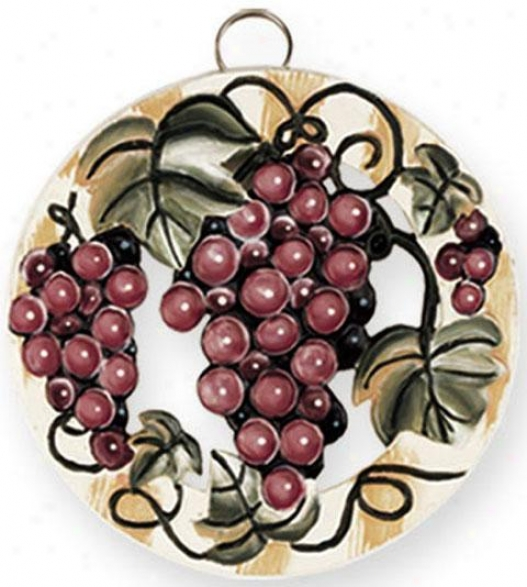 """grapevine Trivet - 7.25""""d, Purple"""