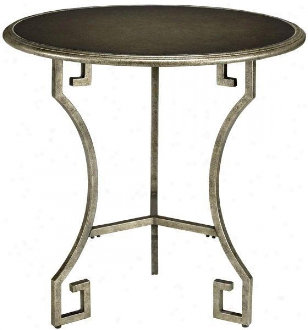 Greek Key Tables - Large, Silver