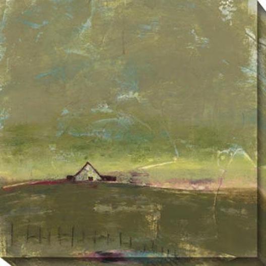 """""""green Barn Canvas Wall Art - 40""""""""hx40""""""""w, Green"""""""