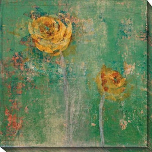 Verdant Floral I Canvas Wall Art - I, Green