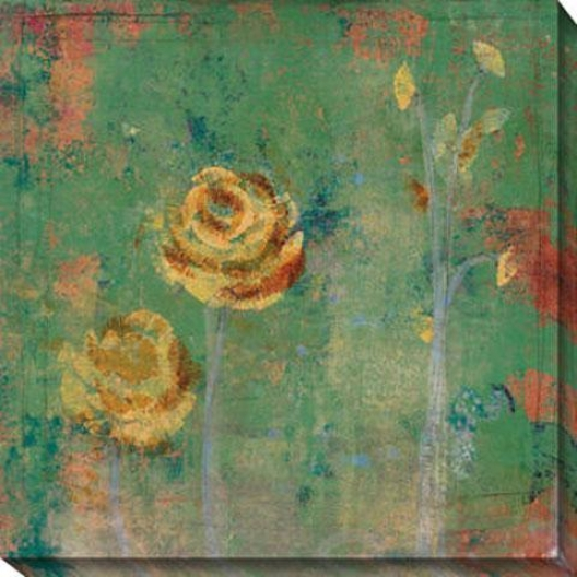 Green Floral Ii Canvas Wall Art - Ii, Green