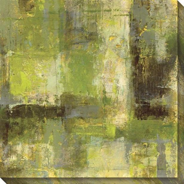 """green/black Abstract Wall Art - 40""""x40"""", Green"""