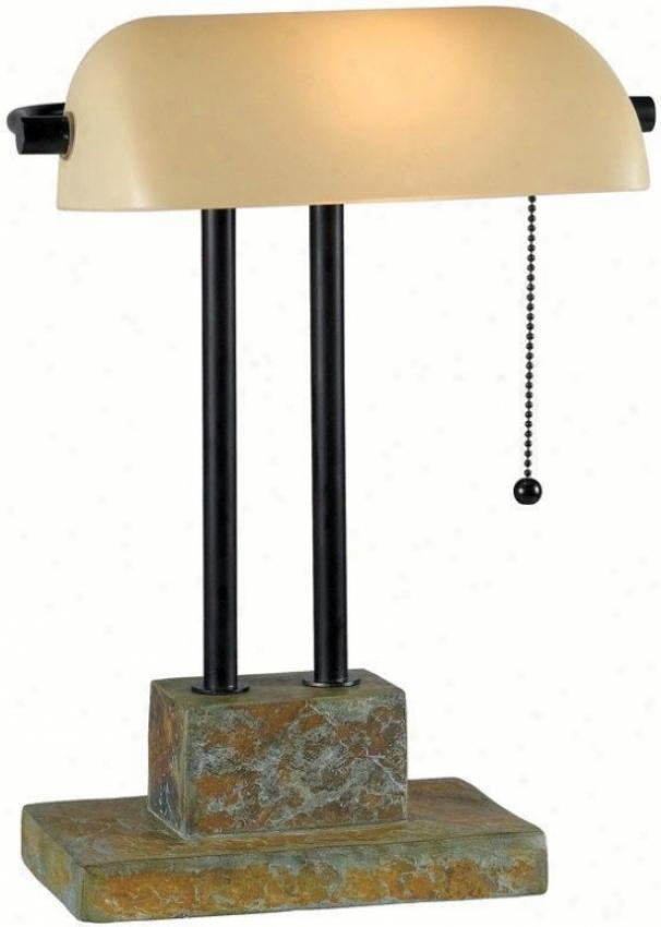 """""""greenville Banker Lamp - 1""""""""h, Slate Gray"""""""