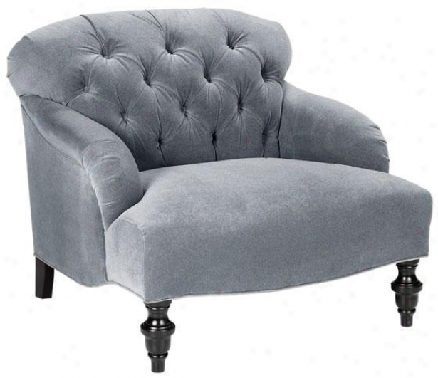 Greenwich Seat of justice - Chair, Velvet Slt Blue
