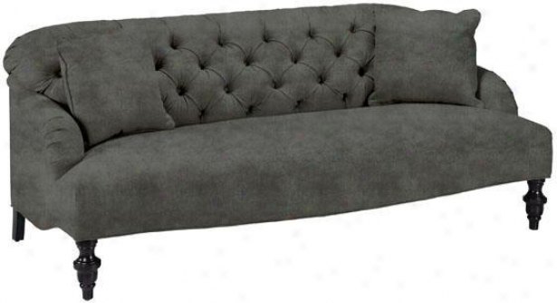 Greenwixh Sofa - Sofa, Velvwt Grey