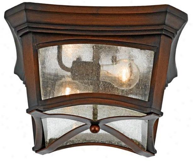 Gresham Outdoor Flush Mount Lantern - 2-light, Large boiler