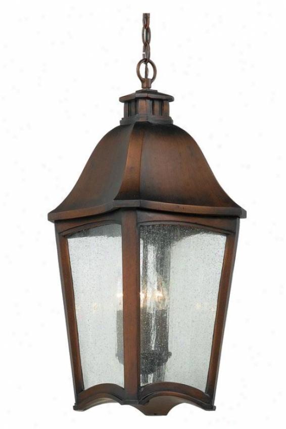 Gresham Outdoor Hagning Lantern - 4-light/xl, Burnished Cppr