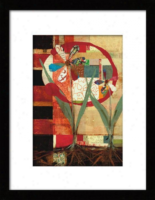 Growing Flowers Framed Wall Art - I, Matted Black