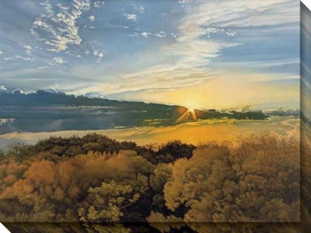 """guanajuato Sunshine Cznvas Wall Art - 48""""hx36""""w, Beige"""