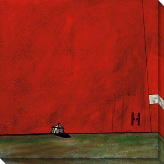 """h Is For Home Canvas Wall Creation of beauty - 40""""hx40""""w, Red"""