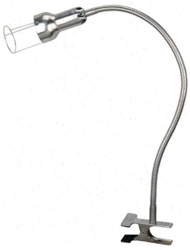 """halogen Clip-on Lamp - 33.5""""x4""""d, Silver"""