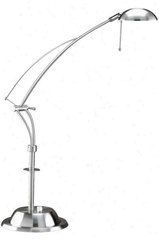"""""""halogen Iv Desk Lamp - 28""""""""h, Silver"""""""