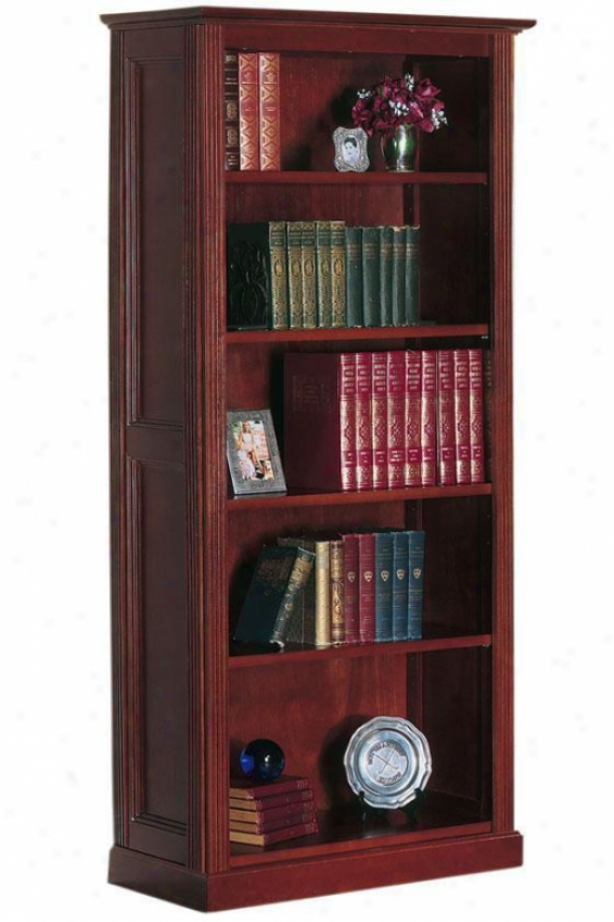 Hamilton 5-shelf Bookcase - Stndrd 5-shelf, Brown Wood