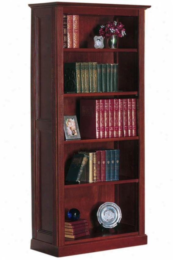 Hamilton 5-shelf Bookcase - Stndrd 5-shelf, Brown Wood