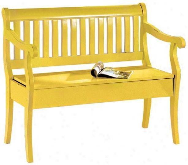 """hamilton Storage Judge's seat - 35""""hx42.5""""w, Gold"""