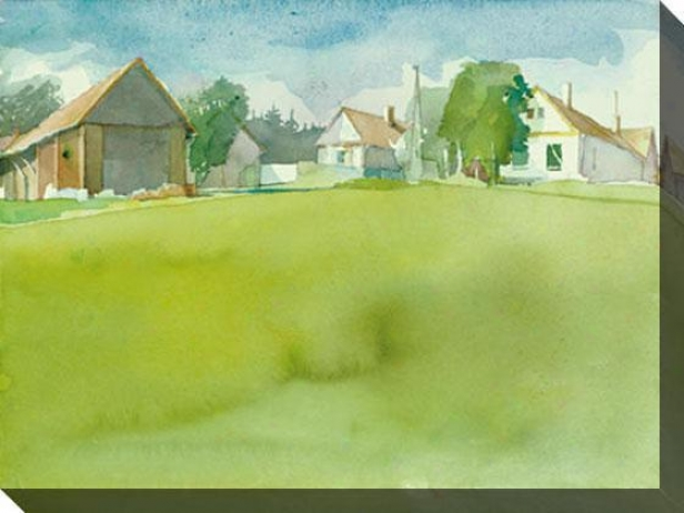 """""""hamlet, Szer Canvas Wall Art - 48""""""""hx36""""""""w, Green"""""""