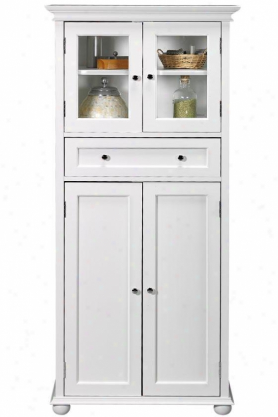 Hampton Bay 1-drawer Tall Cabinet - 4-door, White