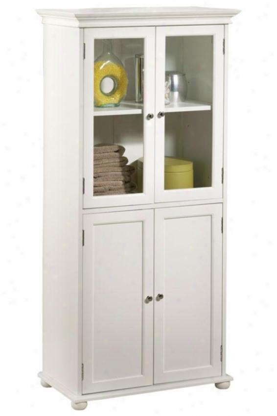 """hampton Bay 25""""w Four-door Tall Cabinet - Standard 25""""w, White"""