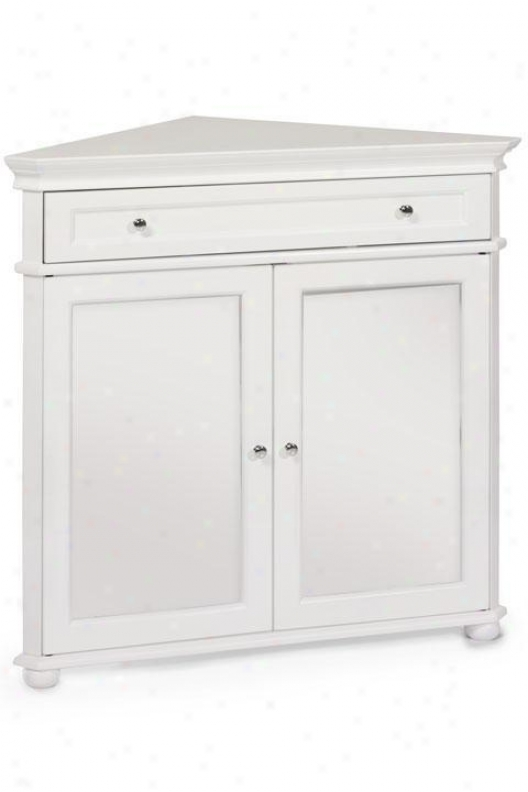 """hampton Bay 32""""w Corner Cabinet With Two Wood Doors - Forest Doors, White"""