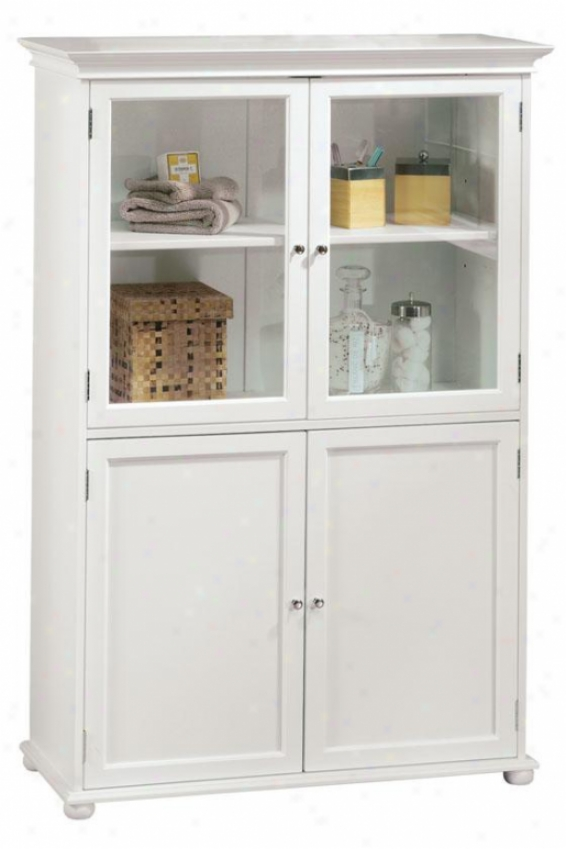 """hampton Bay 36""""w Four-door Tall Cabinet - Standard 36""""w, White"""