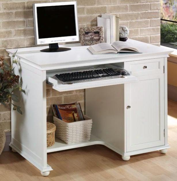 """""""hampton Bay 42""""""""w Computer Writing Desk - 42 """"""""w, White"""""""
