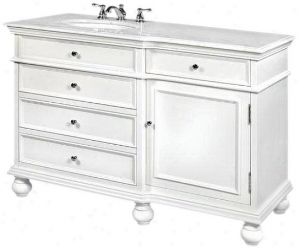 """hampton Bay 48""""w 4-drawer Bathr0om Vanity - 48""""w, White"""
