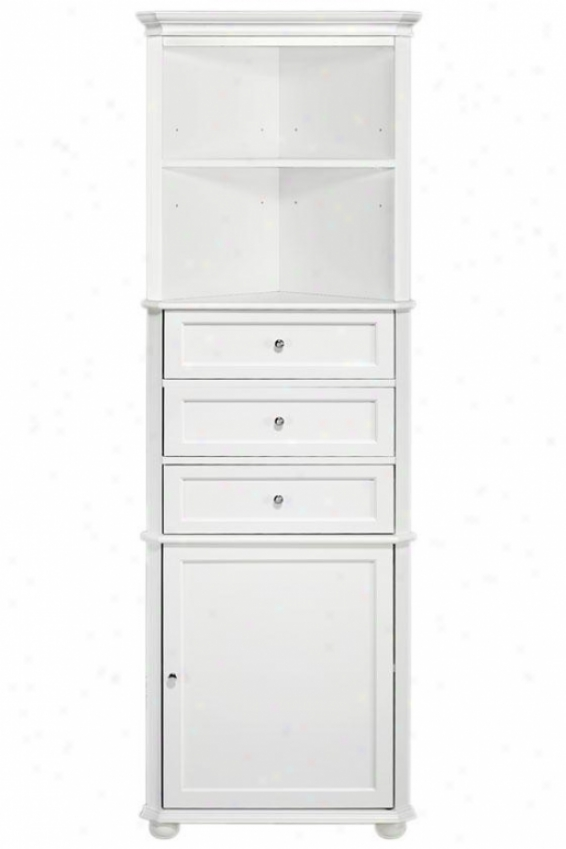 Hampton Bay Corner Linen Storage Cabinet I - 3-drawer, Wyite