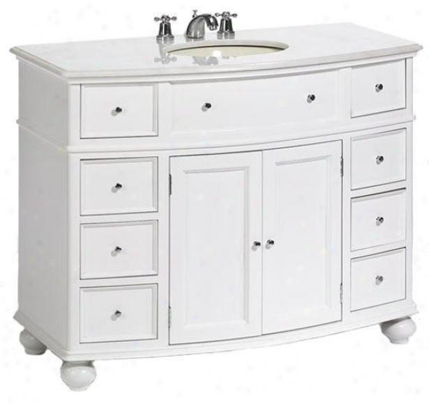 """hampton Bay Curved Bathroom Vanity - 35""""hx45""""w, White"""