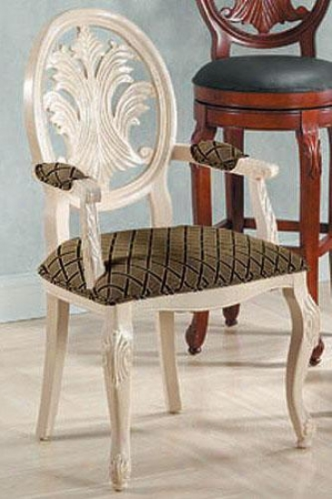 Hand-carved Montgomery Arm Chair - Tuscan, White