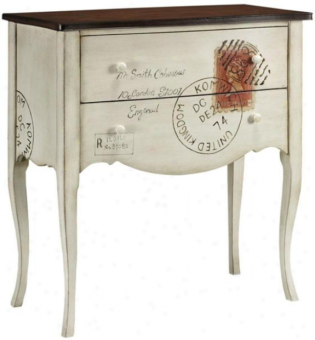 """""""hand-painted International Post Cabinet - 36""""""""x34"""""""", White"""""""