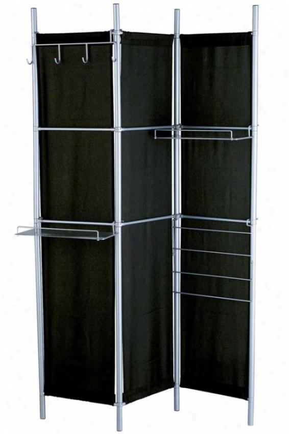 Hang It Up Folding Screen Room Diivder - 71hx48wx7d, Black
