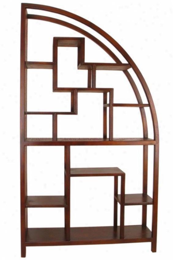 """hangchu Display Shelf - 72""""hx40""""w, Brown"""