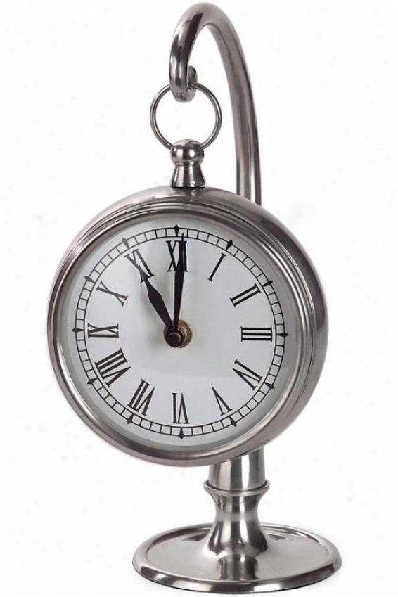 """hanging Clock With Stand - 9.75""""h X 5""""w, Gray"""