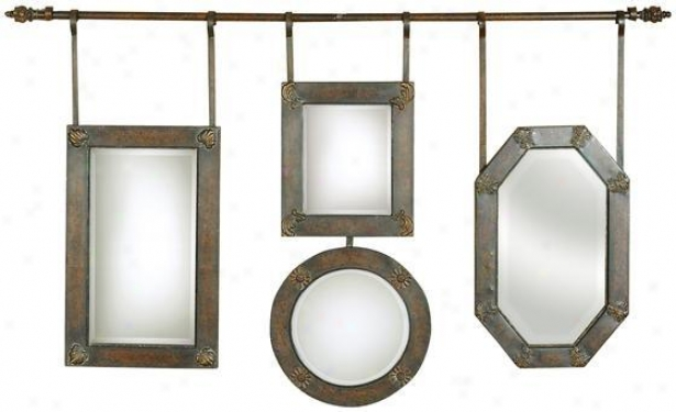 Hanging Collage Mirror - 60x36, Brown
