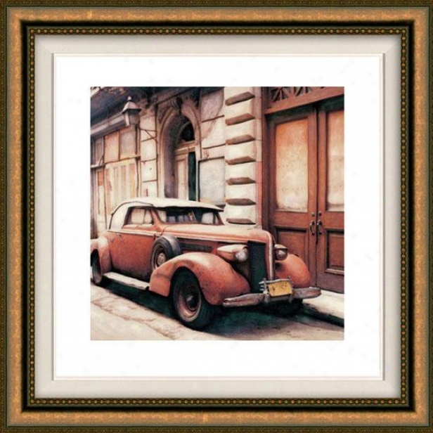 """""""hanna Viejo Framed Wall Practical knowledge - 32""""""""hx32""""""""w, Floated Gold"""""""