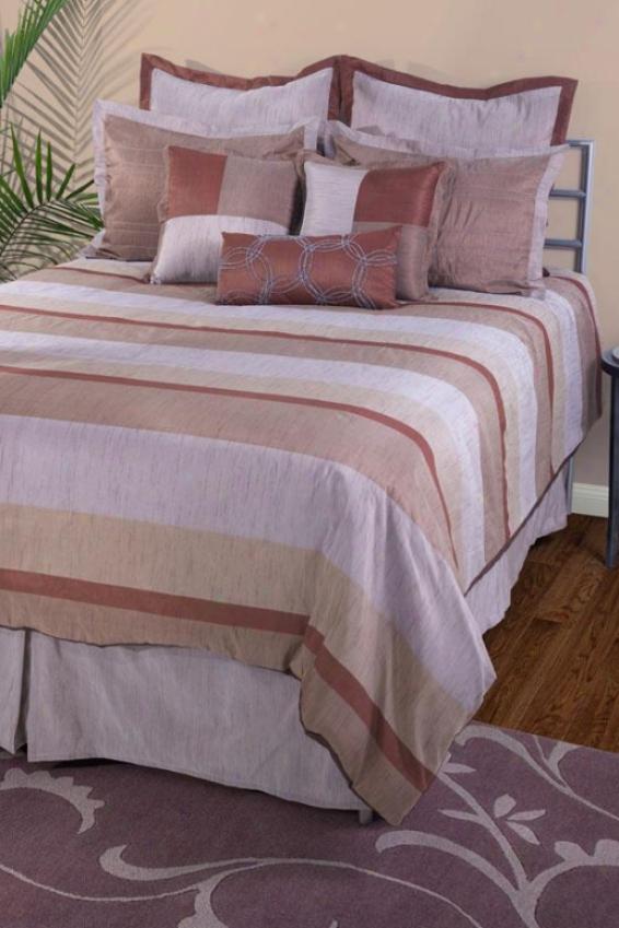 Hnnah Bedding Set - King 10pc Set, Brown