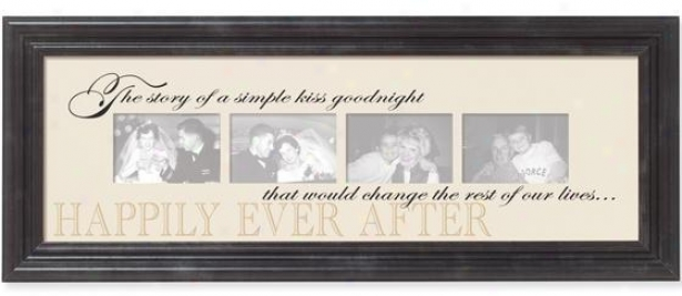 """happily Ever After Collage Wall Art - 36""""x14.25"""", Multi"""