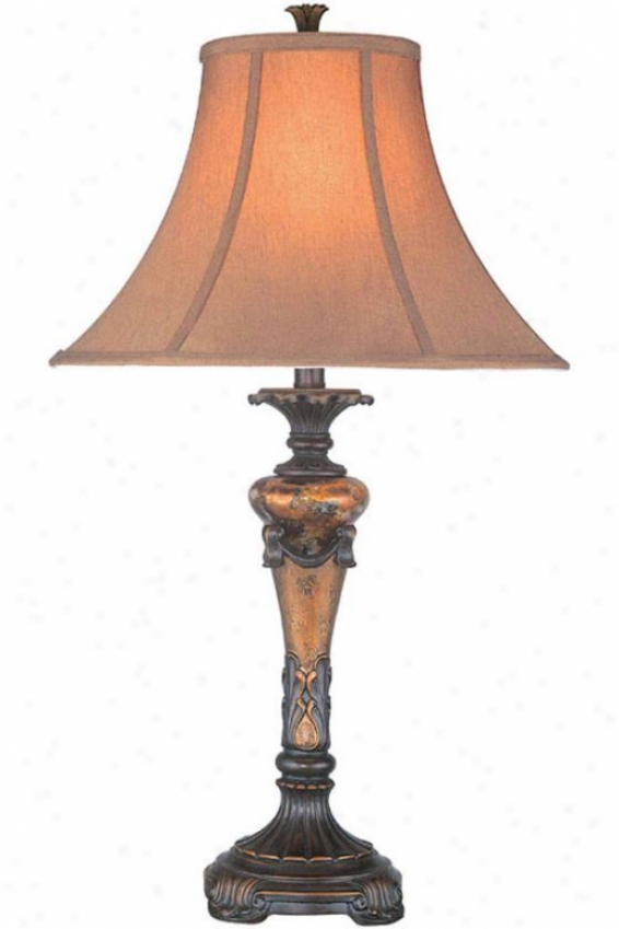 """harlow Table Lamp - 29""""hx1""6""d, Aged Gold"""
