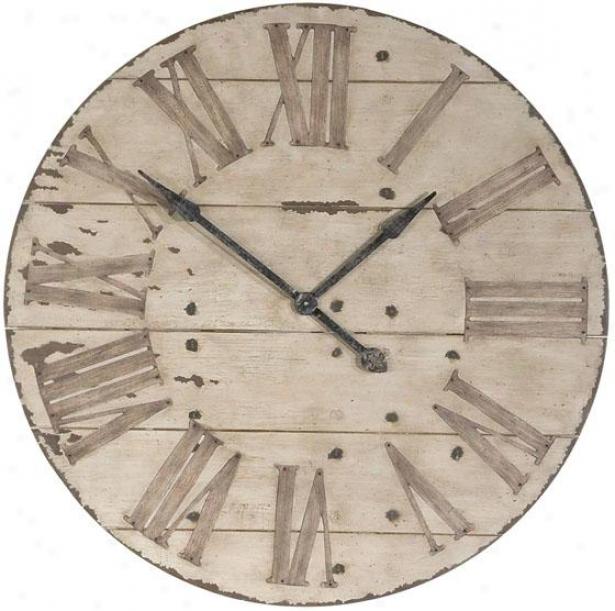 """""""harrington Clock - 36""""""""diameter, Antiqued Ibory"""""""