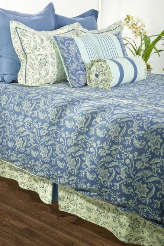 Hartford Bedding Set - Queen, Indigo Blue
