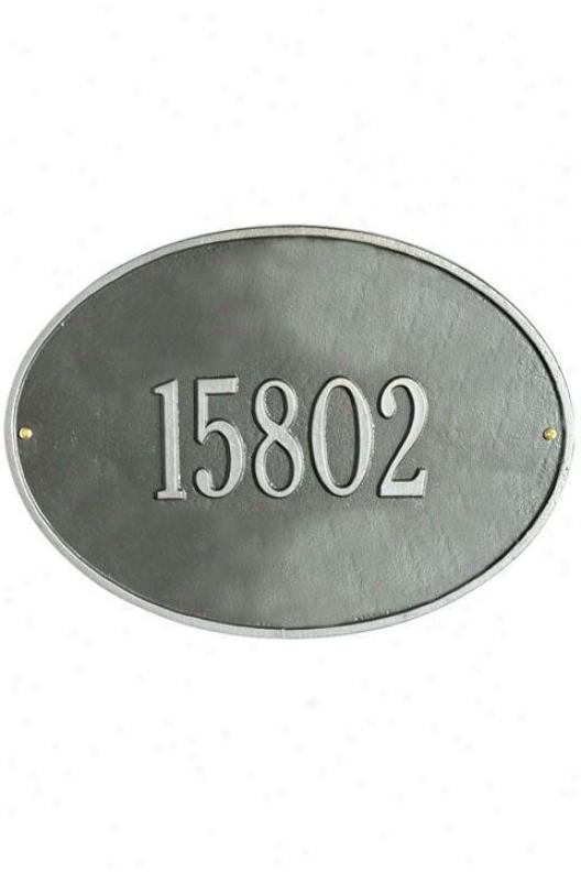 Hawthorne One-line Standard Wall Address Plaque - Standard/1 Line, Gray