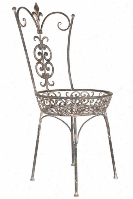 """""""hayden Chair Plant Stand - 24.5""""""""hx10""""""""round, Grey"""""""