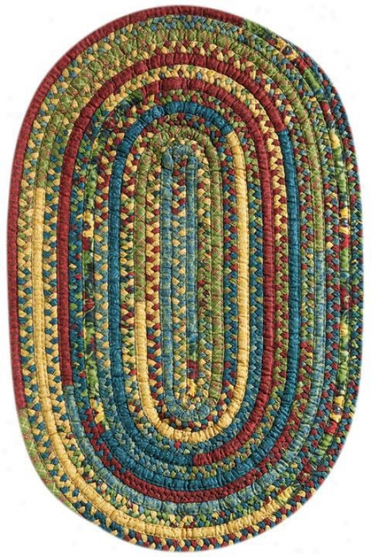 """Fireside Braided Area Rug - 1'10""""x2'10"""", Sage"""