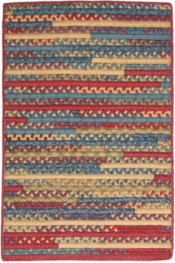 Hearth Rectangular Braided Area Rug - 3'x3' Square, Denim Blue